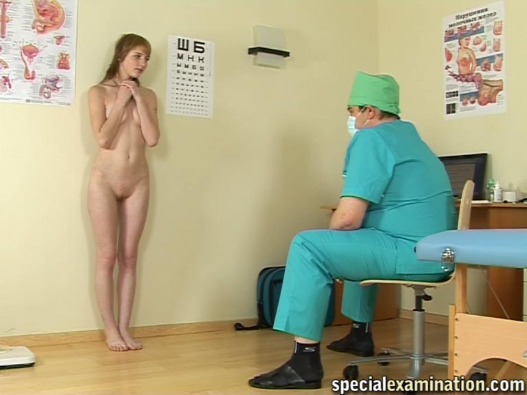 Gyno medical examination of young brunette 4